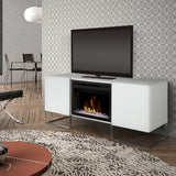 Dimplex Chase Electric Fireplace Media Console in Gloss White GDS25GD-1962GW