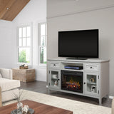 Dimplex Sophia Electric Fireplace Media Console in Ivory
