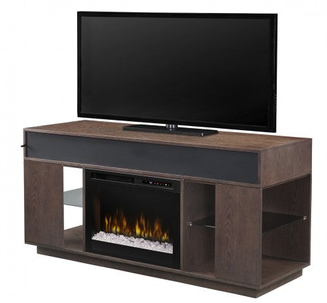 Dimplex Audio Flex Lex Electric Fireplace Media Console in Smoke - GDS26G8-1836SM