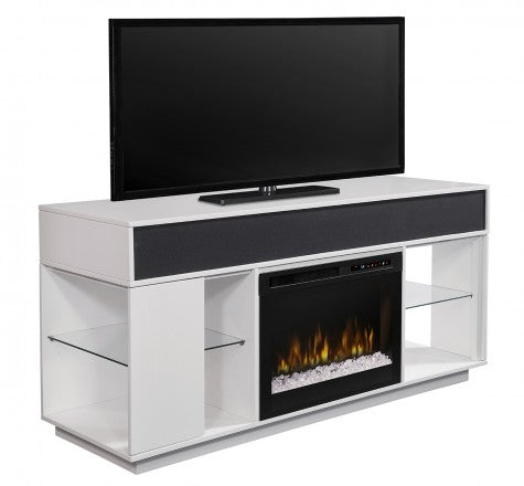 Dimplex Audio Flex Lex Electric Fireplace Media Console in White - GDS26G8-1836W