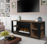 Dimplex Arlo Acrylic Ice(XHD) Electric Fireplace Media Console in Tan Walnut