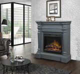 Dimplex Heather Electric Fireplace Mantel Package in Wedgewood Grey - GDS26L5-1941WE