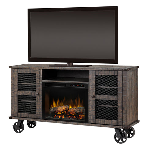 Duncan Electric Fireplace Media Console in Pinehurst
