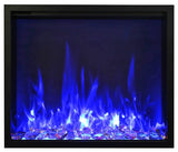 "Amantii 48"" TRD Electric Fireplace Glass Media"