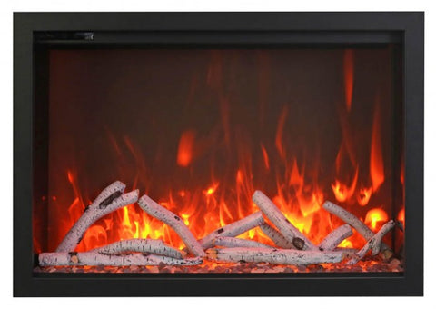 "Amantii 38"" TRD Birch Logs Electric Fireplace"