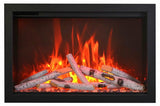 "Amantii 33"" TRD Birch Log Electric Fireplace"