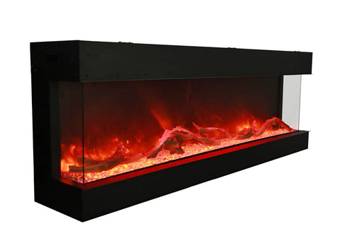 Amantii 72-TRU-VIEW-XL - Indoor/Outdoor 3-Sided-Electric-Fireplace