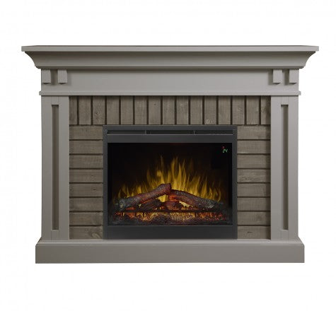 Dimplex Madison Electric Fireplace Mantel Package in Stone Grey