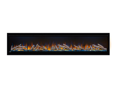 "Napoleon 74"" Alluravision Deep Wall Mount Electric Fireplace Logs - NEFL74CHD"
