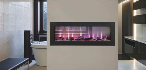 "Napoleon 50"" CLEARion See-Thru Electric Fireplace With Black Trim - NEFBD50H"