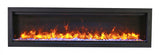 Amantii SYM-50 BESPOKE Glass Crystals Series Electric Fireplace
