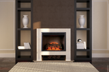"Dynasty Zero Clearance 32"" White Mantel Electric Fireplace - EF44D"