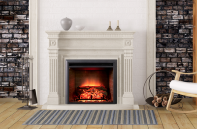 Dynasty Zero Clearance 28 Plug In Electric Fireplace Ef43d