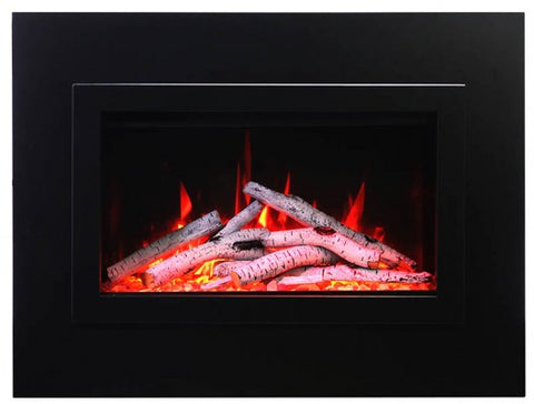"Amantii 26"" TRD Insert Electric Fireplace Birch logs"