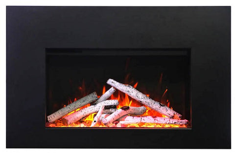 "Amantii 30"" TRD Insert Electric Fireplace Birch Logs"