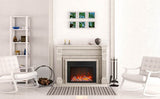 "Amantii 38"" TRD Insert Electric Fireplace White Mantel"