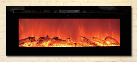"ToSo 50"" Electric Fireplace Wall Mount in Black by Powrmatic"