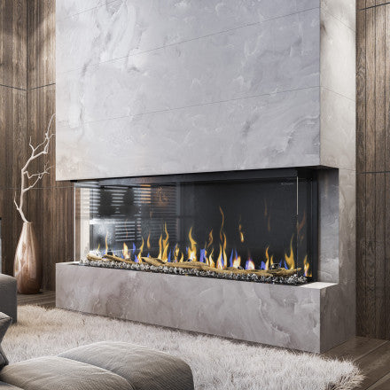 "Dimplex IgniteXL Bold 60"" Linear Electric Fireplace Stone wall built-in - XLF6017-XD"