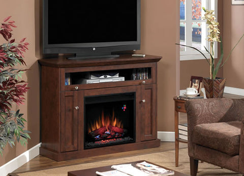 Classic Flame Windsor Electric Fireplace Media Mantel in Oak