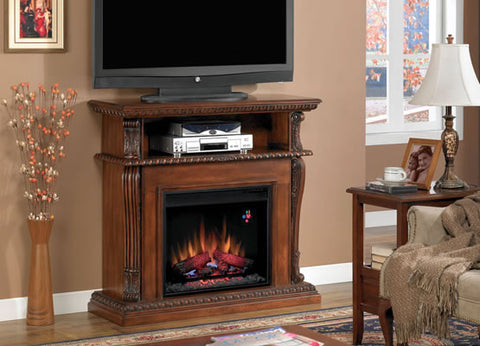 Classic Flame Corinth Electric Fireplace Media Mantel in Oak