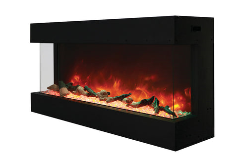 Amantii 40-TRU-VIEW-XL - Indoor/Outdoor 3-Sided-Electric-Fireplace
