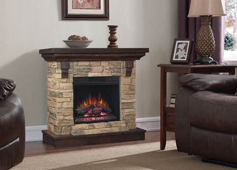 Classic Flame Eugene Electric Fireplace Mantel