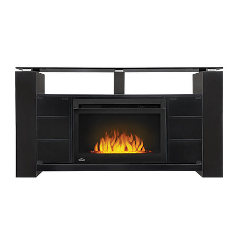 Napoleon Foley Electric Fireplace Entertainment Center in Black- NEFP27-1015B