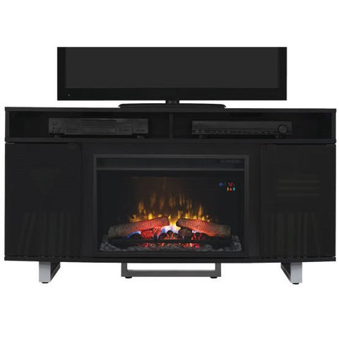 Enterprise Lite Electric Fireplace Media Console in High Gloss Black - 26MM9856-NB03