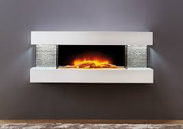 Vegas Petite White Wall Mount Electric Fireplace
