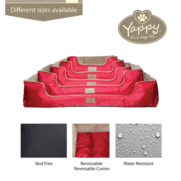 Yappy Dakota Dog Bed Range Red Collection
