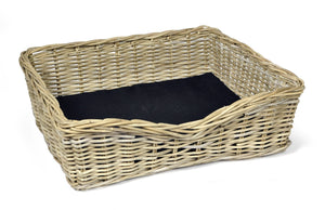 Woofers Wicker Dog Bed Basket | Rect - Dog Nappers Dog Beds