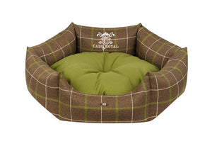 Cazo Royal Line Dog Bed Round | Green - Dog Nappers Dog Beds