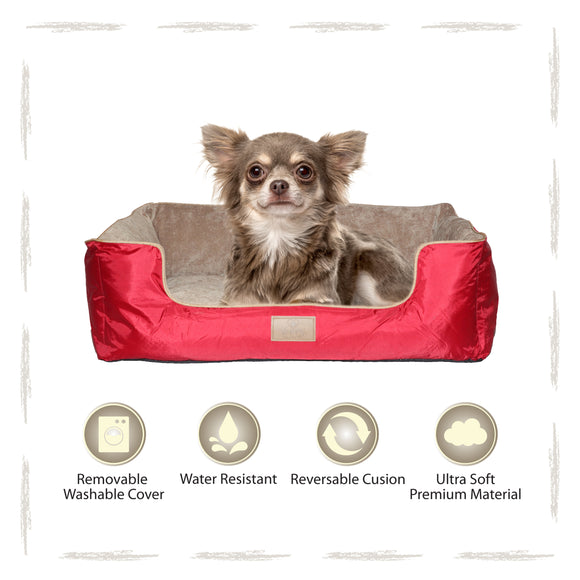 Yappy Dakota Small Dog Bed | Red - Dog Nappers Dog Beds