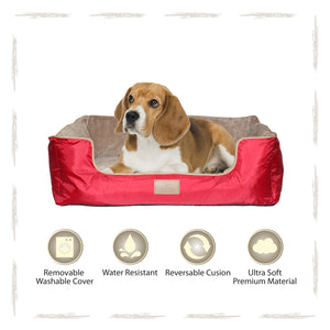 Yappy Dakota Medium Dog Bed | Red - Dog Nappers Dog Beds