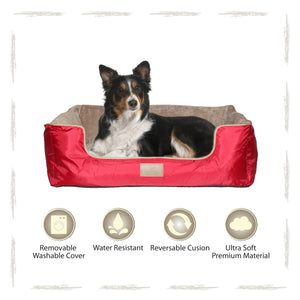 Yappy Dakota Large Dog Bed | Red - Dog Nappers Dog Beds