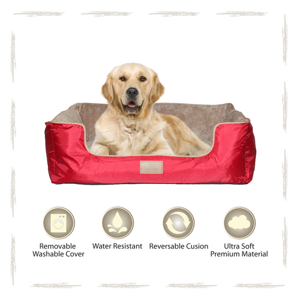 Yappy Dakota X Large Dog Bed | Red - Dog Nappers Dog Beds