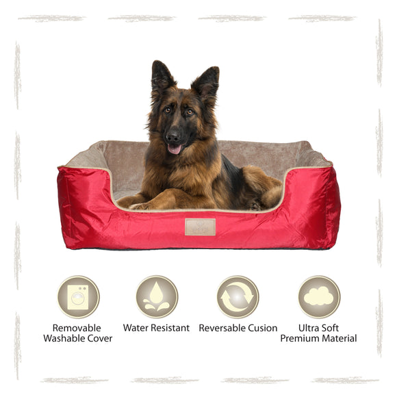 Yappy Dakota XX Large Dog Bed | Red - Dog Nappers Dog Beds