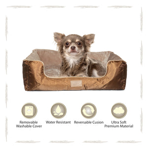 Yappy Dakota Small Dog Bed | Brown - Dog Nappers Dog Beds