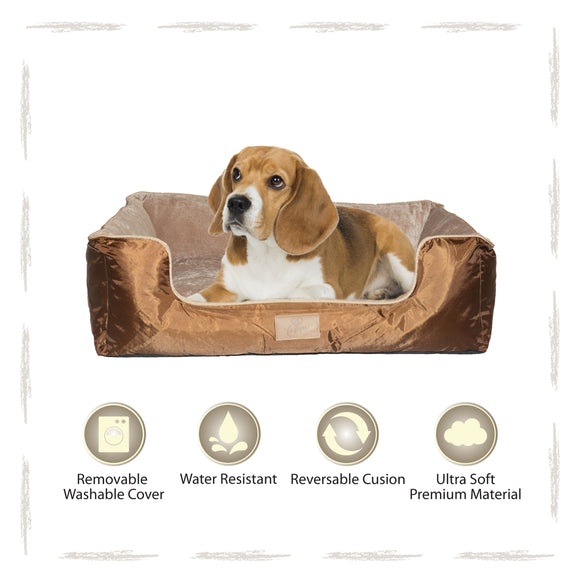 Yappy Dakota Medium Dog Bed | Brown - Dog Nappers Dog Beds