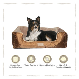 Yappy Dakota Large Dog Bed | Brown - Dog Nappers Dog Beds