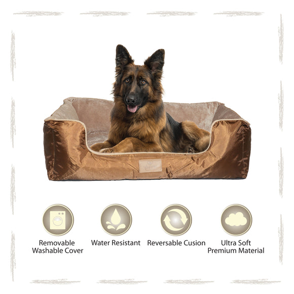 Yappy Dakota XX Large Dog Bed | Brown - Dog Nappers Dog Beds
