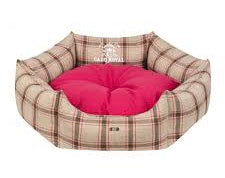 Cazo Royal Line Dog Bed Round | Pink - Dog Nappers Dog Beds