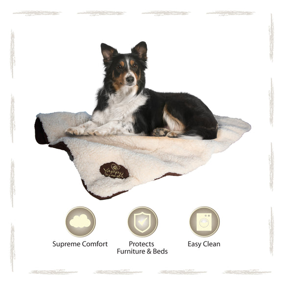 Yappy Roxy Large Dog Blanket | Brown - Dog Nappers Dog Beds