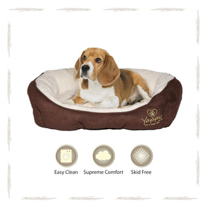 Yappy Roxy Medium Dog Bed Donut | Brown - Dog Nappers Dog Beds