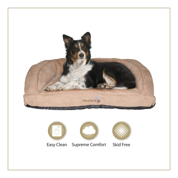Woofers Suir Large Dog Bed | Tan - Dog Nappers Dog Beds