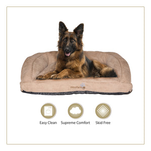 Woofers Suir X Large Dog bed | Tan - Dog Nappers Dog Beds