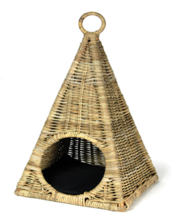 Woofers Wicker Cat Bed Basket | Pyramid - Dog Nappers Dog Beds