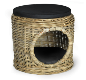 Woofers Wicker Cat Bed Basket | Pouf - Dog Nappers Dog Beds