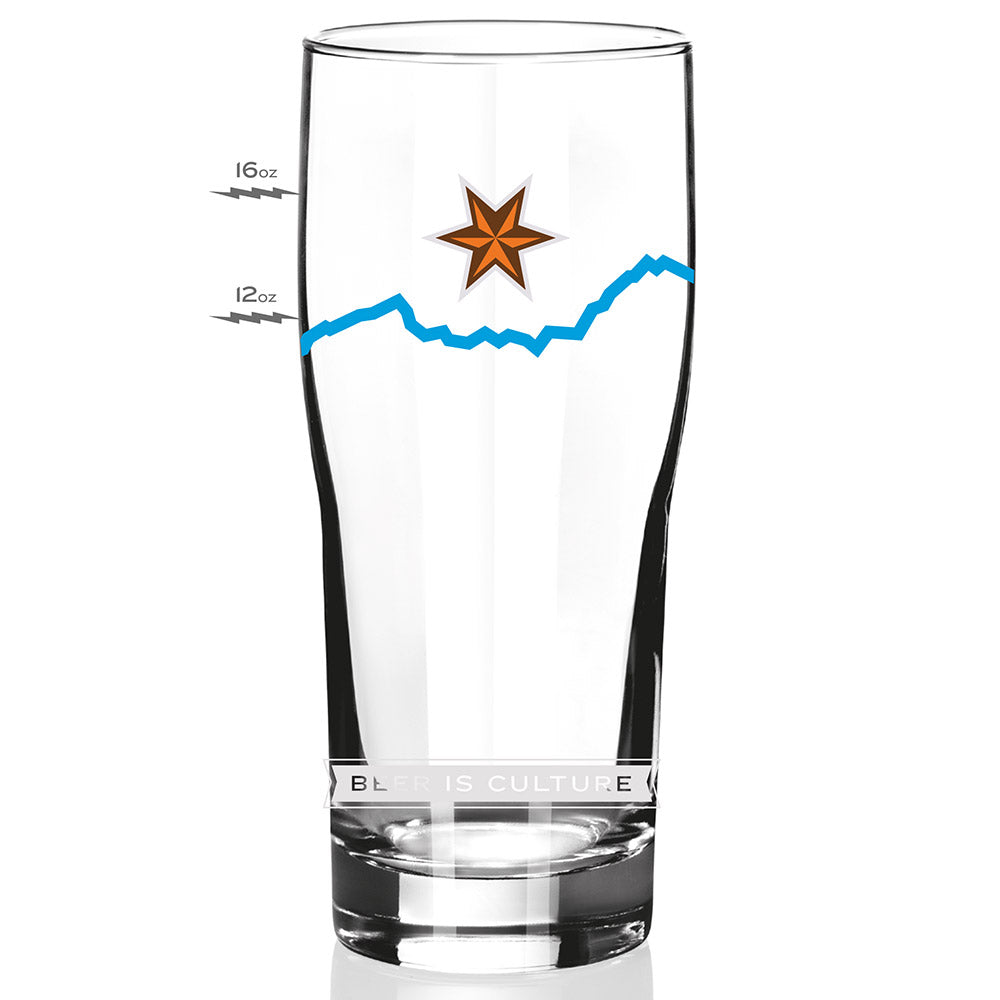 Alpenflo Stackable Pint Glass-20oz