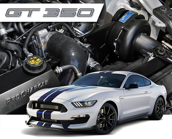 2015-17 Ford Mustang Shelby GT350 5.2L Supercharger Systems 1FW314-SCI Stage II Intercooled System with P-1SC-1